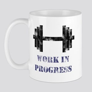 Gym Work In Progress Distressed Mug