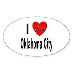 I Love Oklahoma City Oval Sticker (10 pk)