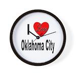 I Love Oklahoma City Wall Clock