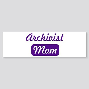 Archivist mom Bumper Sticker
