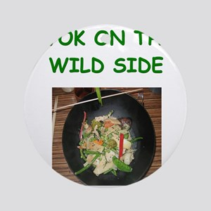 wok cooking joke Ornament (Round)