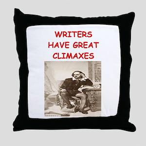 author and writers joke Throw Pillow