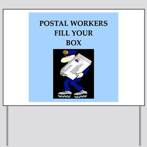 mailman gifts and t-shirts Yard Sign