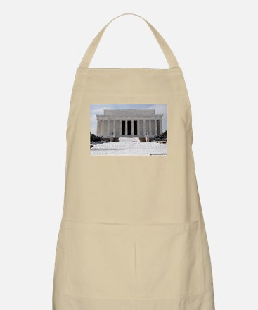 Lincoln Memorial in the snow BBQ Apron