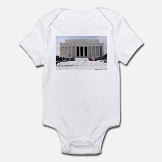 Lincoln Memorial in the snow Infant Creeper