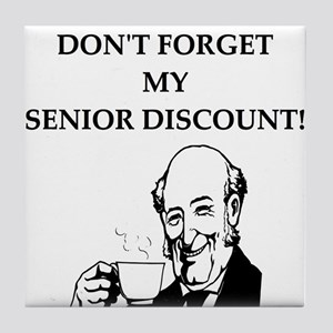 retiree senior citizen Tile Coaster