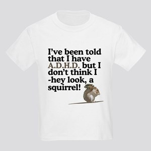hey look, a squirrel! Kids Light T-Shirt