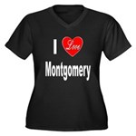 I Love Montgomery (Front) Women's Plus Size V-Neck