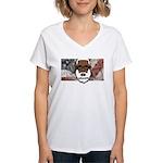 Women's V-Neck T-Shirt (white) 2