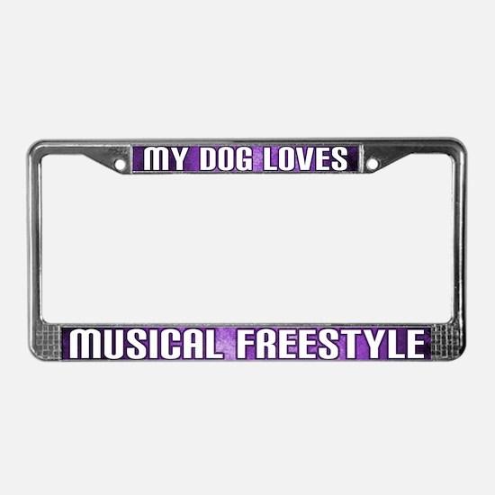 Dog Lv Musical Freestyle License Plate Frame (Prp)
