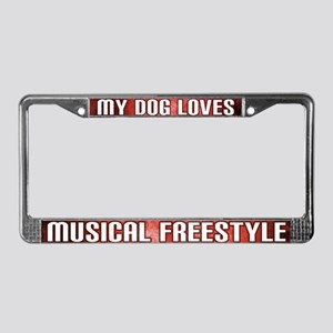 Loves Musical Freestyle License Plate Frame (Red)