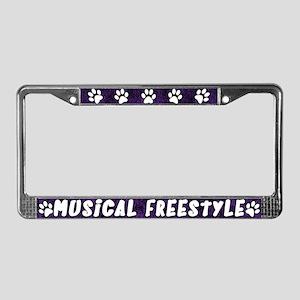 Paw Print Musical License Plate Frame (Purp)