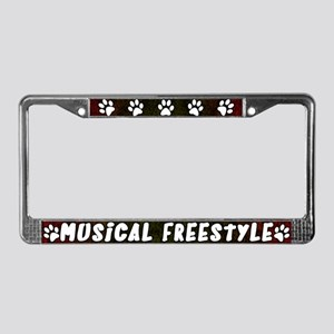 Pw Pnt Musical Freestyle License Plate Frame (Red)