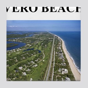 vero beach gifts and t-shirts Tile Coaster