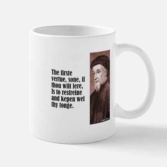 "Chaucer ""Firste Vertue"" Mug"