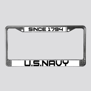 Navy Heritage License Plate Frame