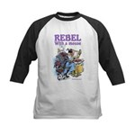 Rebel With A Mouse Kids Baseball Jersey