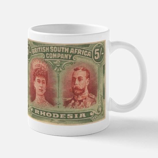 Rhodesia double head 5s Mug