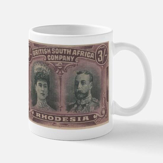Rhodesia Double Heads 3s Mug