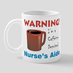 """""""Caffeine Deprived N.'s Aide"""" On Front of Mug"""