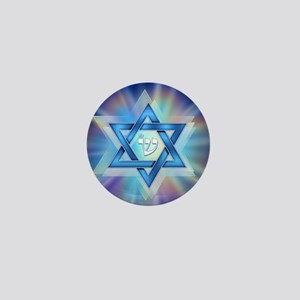 Radiant Magen David Mini Button