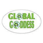 GLOBAL GODDESS (Oval) STICKER