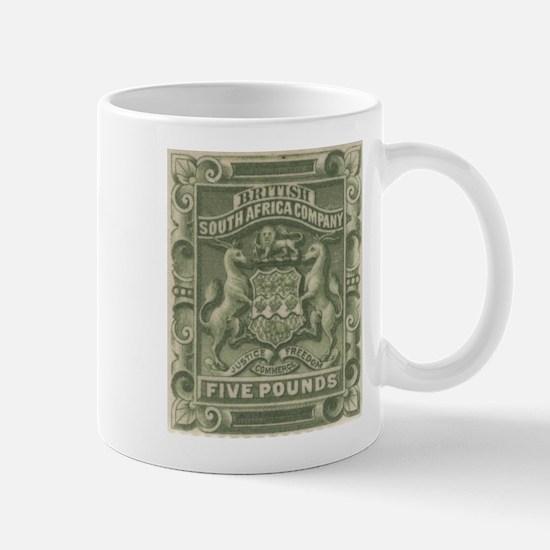 Rhodesia arms Five Pounds Mug