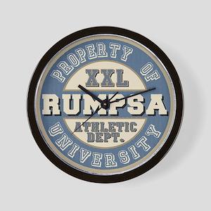 Rumpsa Last Name Athletic Dept Wall Clock