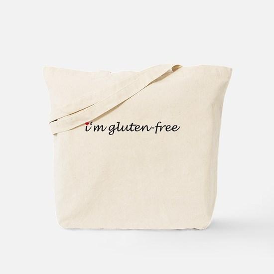 i'm gluten-free w/heart Tote Bag