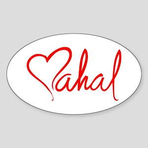 mahal/heart Oval Sticker