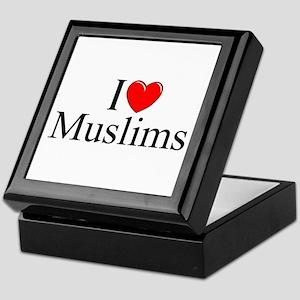 """I Love (Heart) Muslims"" Keepsake Box"