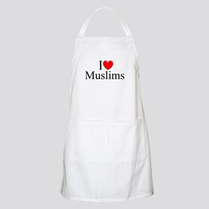 """I Love (Heart) Muslims"" BBQ Apron"
