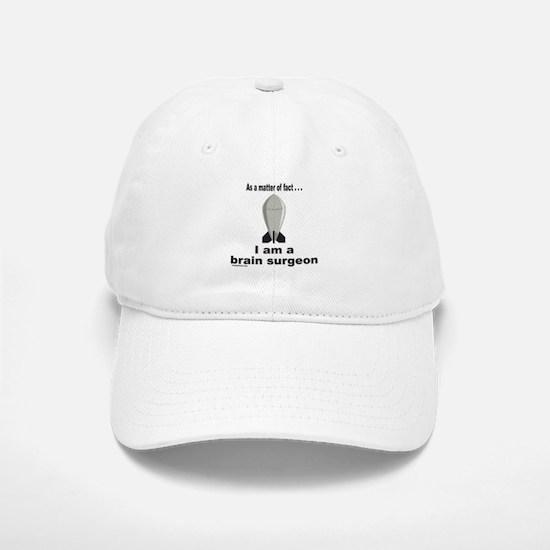 BRAIN SURGEON/ROCKET SCIENCE Baseball Baseball Cap
