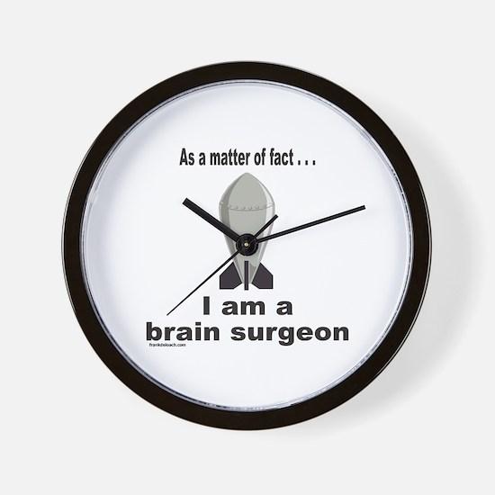 BRAIN SURGEON/ROCKET SCIENCE Wall Clock