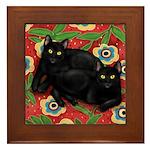 BLACK CATS Framed Tile