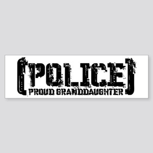 Police Proud Granddaughter Bumper Sticker