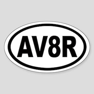 AV8R Euro Oval Sticker