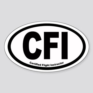 CFI Euro Oval Sticker