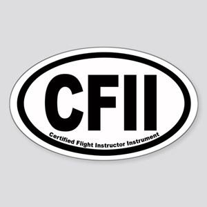 CFII Euro Oval Sticker