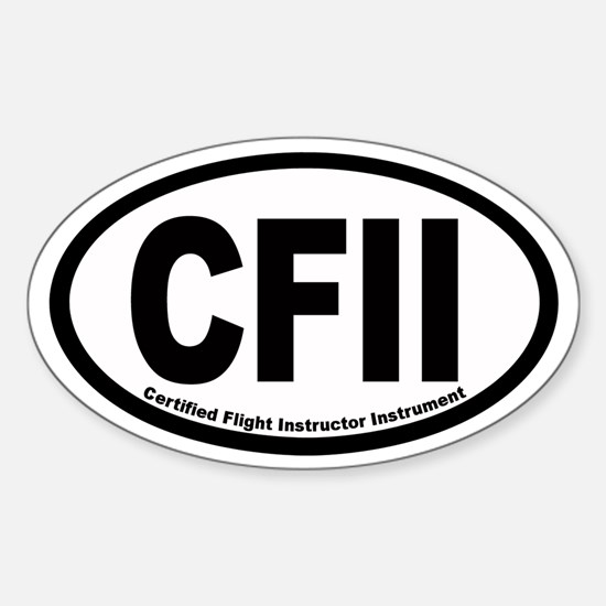 CFII Euro Oval Decal