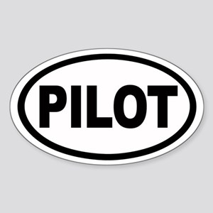 Pilot Euro Oval Sticker