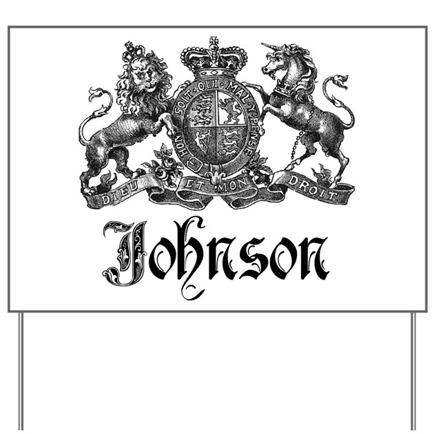 Johnson Vintage Family Crest Yard Sign By Bestnametees