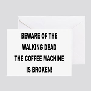 Vet school of the walking dead greeting cards cafepress beware of the walking dead greeting cards package m4hsunfo