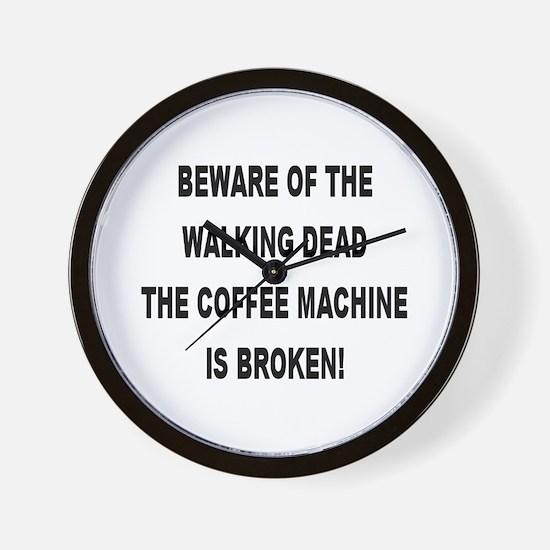 Beware Of The Walking Dead Wall Clock