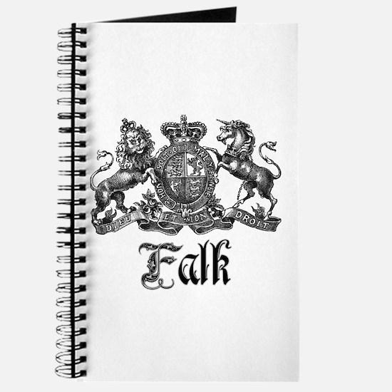 Falk Vintage Family Name Crest Journal