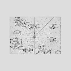 Vintage Map of Cape Verde (1746) 5'x7'Area Rug