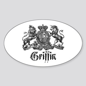 Griffin Family Name Vintage Crest Oval Sticker