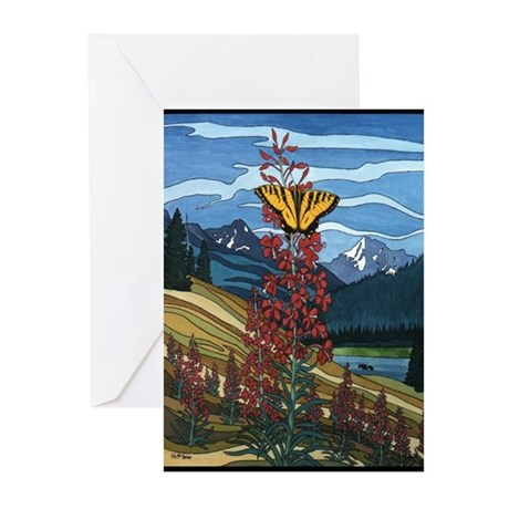 Butterfly Painting Greeting Cards (Pack of 10)