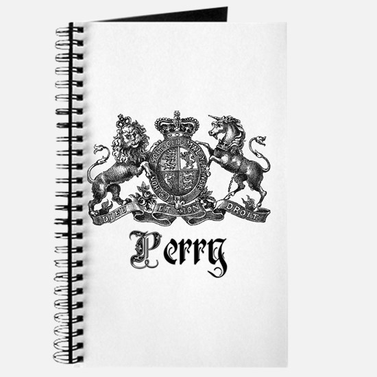 Perry Vintage Family Name Crest Journal