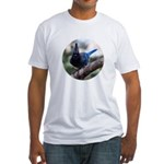 Steller's Jay Hollering Fitted T-Shirt
